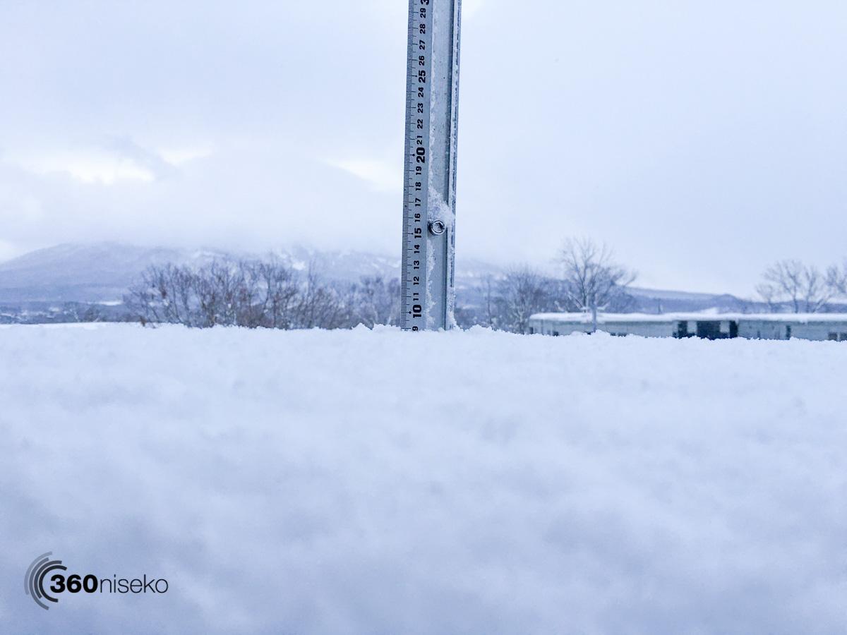 Snowfall in Hirafu Village, 5 December 2015
