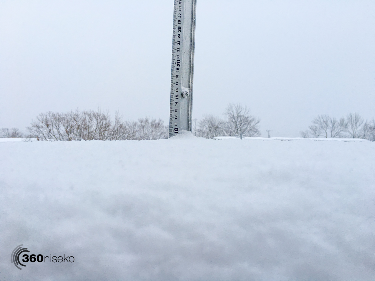 Snowfall in Hirafu Village, 2 January 2016