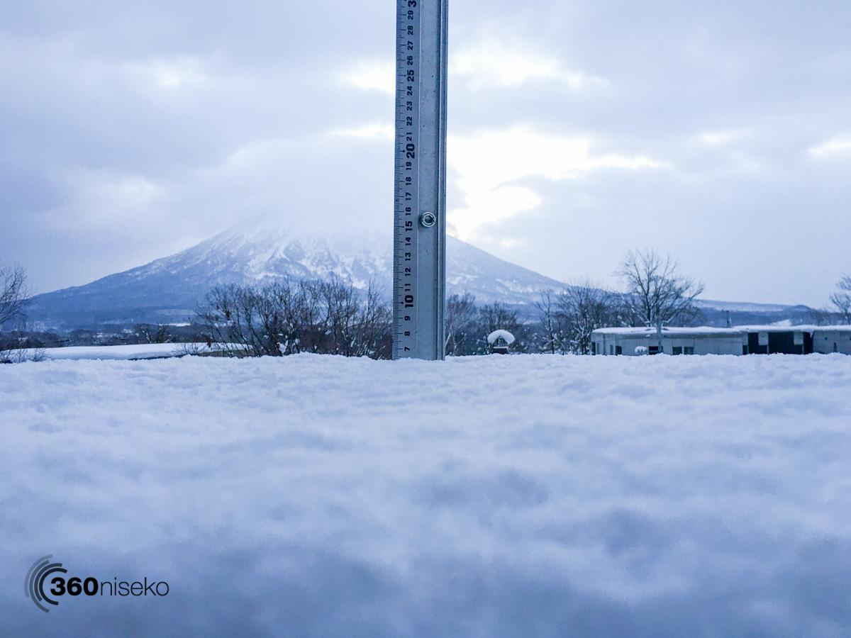 Snowfall in Hirafu Village, 3 January