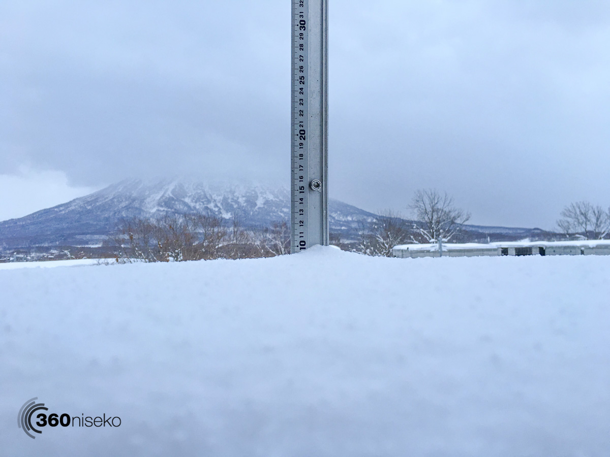 Snowfall in Hirafu Village, 8 January 2016