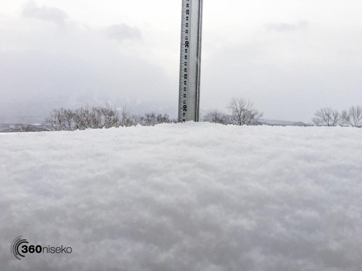 Snowfall in Hirafu Village, 10 January 2016
