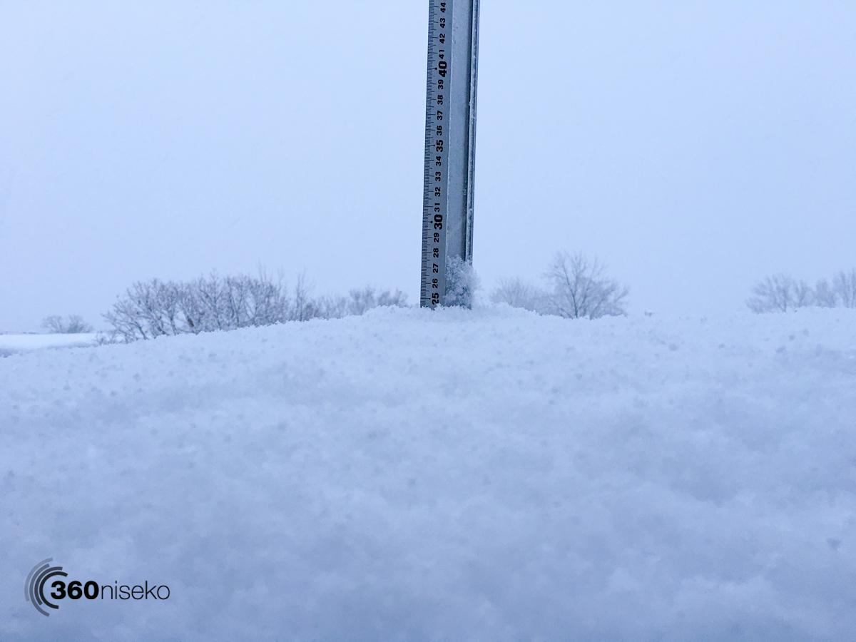 Snowfall in Hirafu Village, 13 January 2016