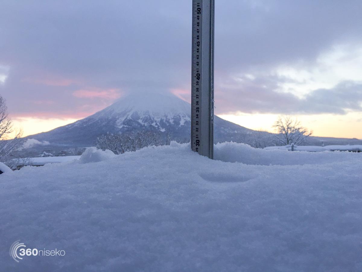 Snowfall in Hirafu Village, 17 January 2016