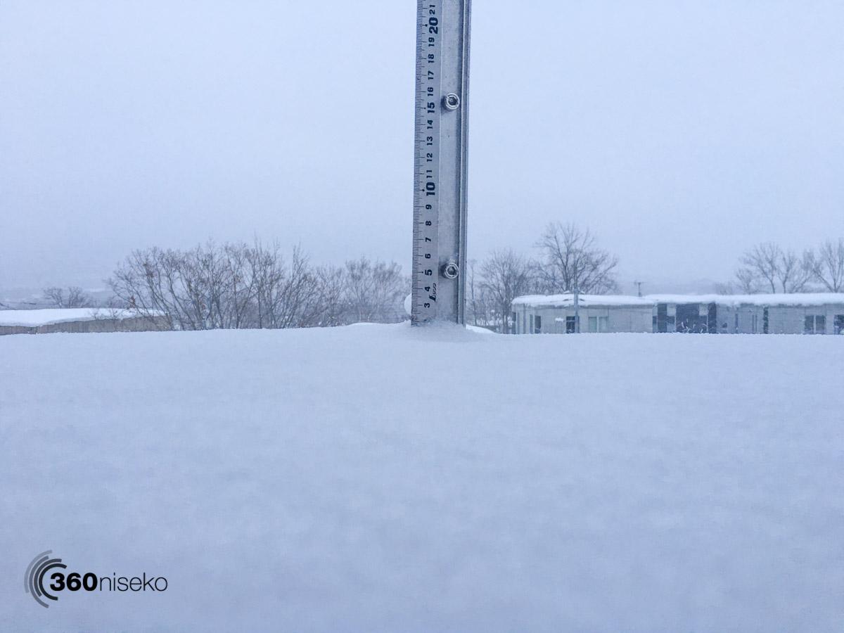 Snowfall in Hirafu Village, 20 January 2016