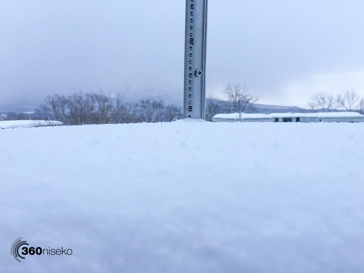 Snowfall in Hirafu Village, 29 January 2016