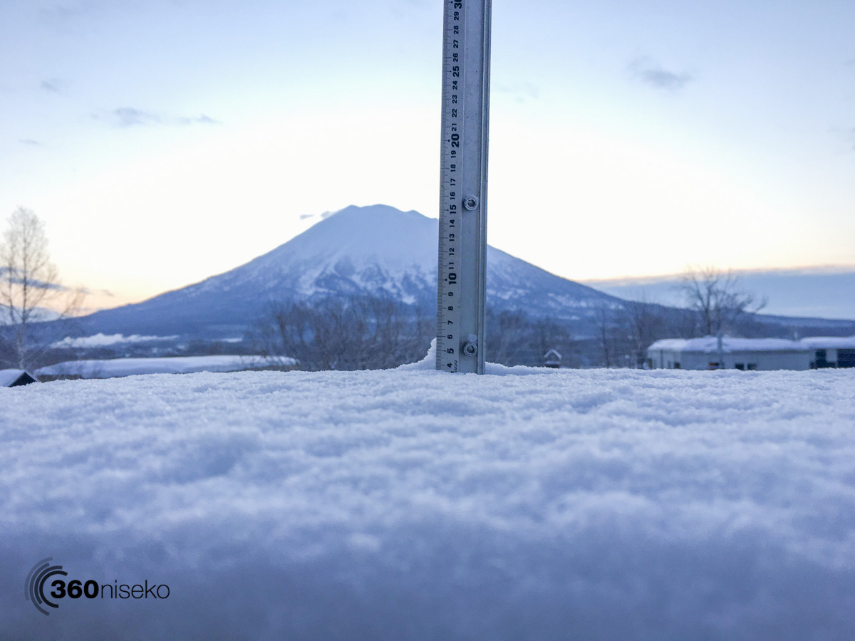 Snowfall in Hirafu Village, 30 January 2016