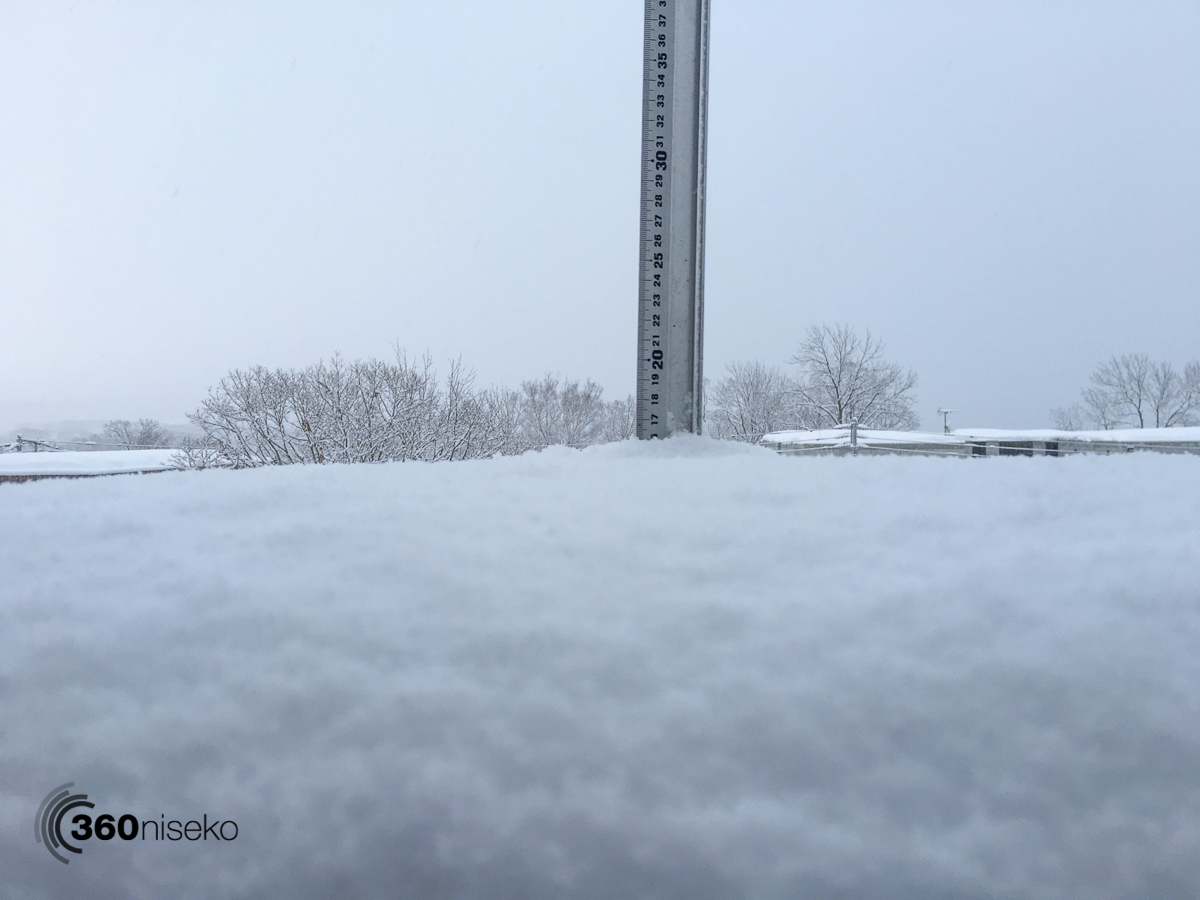Snowfall in Hirafu Village, 16 February 2016