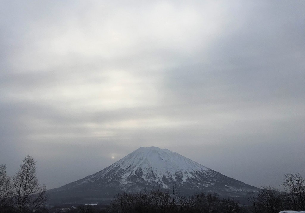 Mt.Yotei from Hirafu Village, 8 March 2016