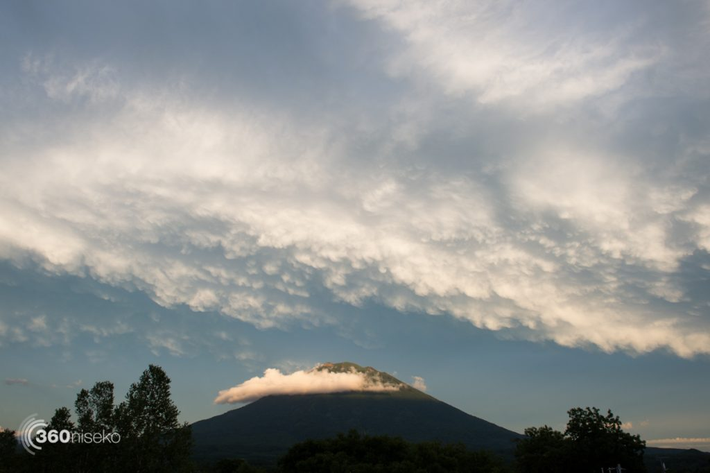 Mt.Yotei catching the final rays, 26 August 2016