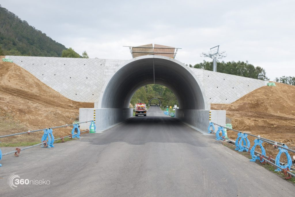 """The new run is built over the road as with the """"Final Fling"""" tunnel, 4 October 2016"""