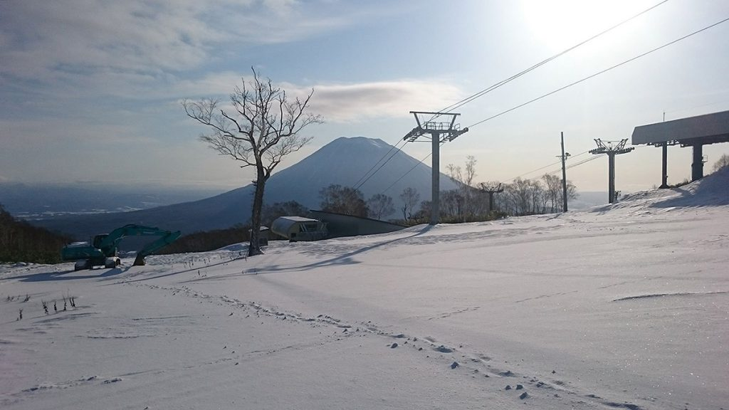 Upper Hirafu and the base of the new high speed quad lift, 7 November 2016