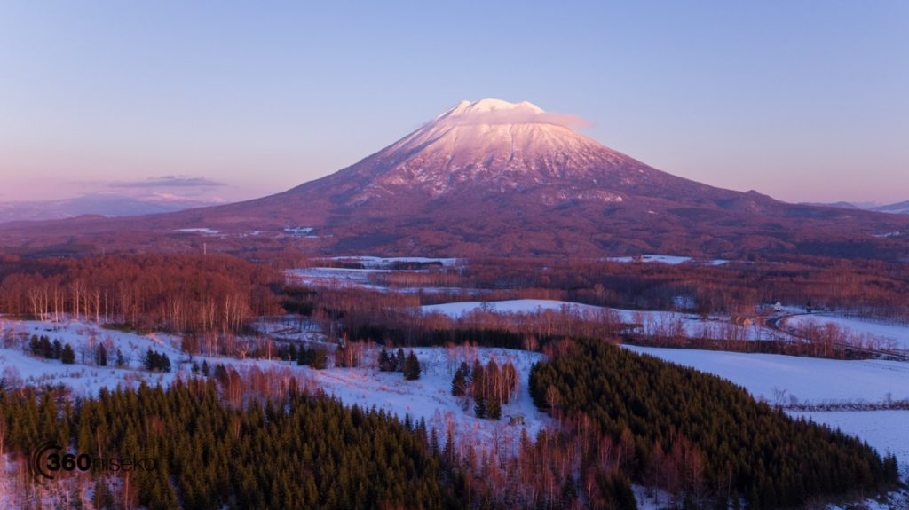 Sunset over Niseko, 3 December 2016