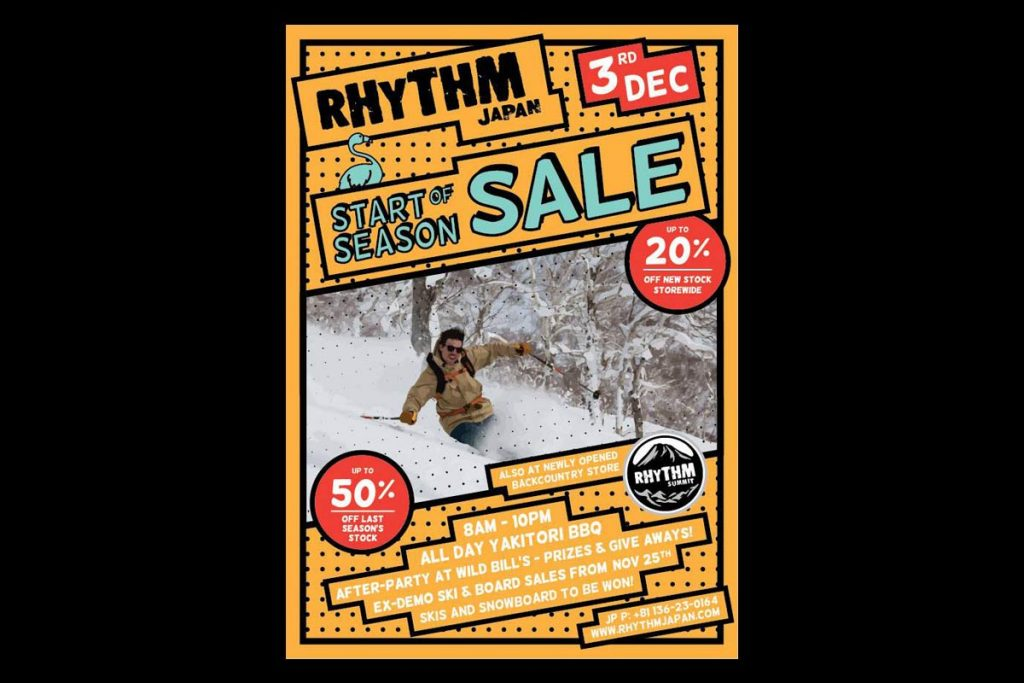 Rhythm Niseko start of the season sale