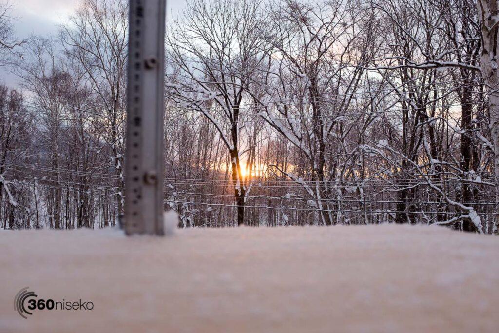 Sunrise from 360niseko HQ, 17 January 2017