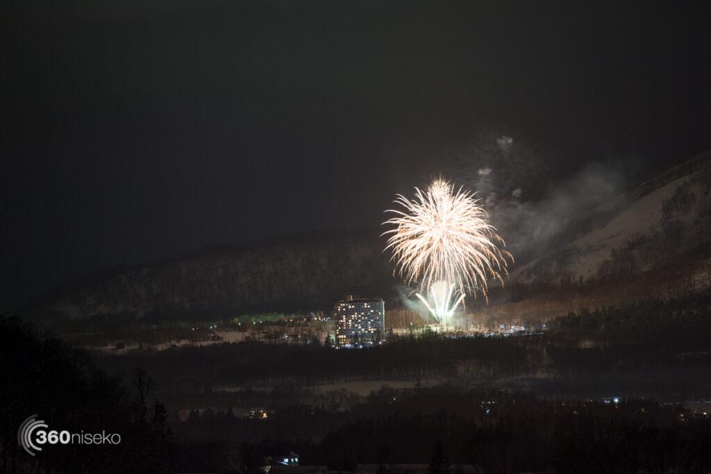 New years fireworks in Niseko Village, 1 January 2017