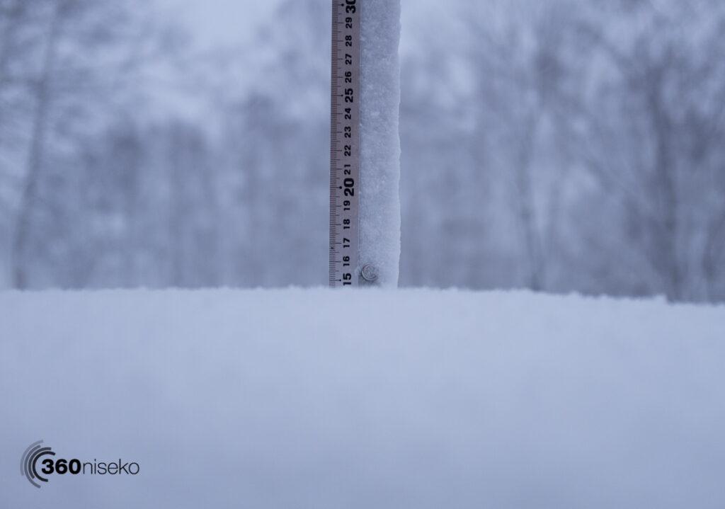 Snowfall in Niseko, 12 January 2017