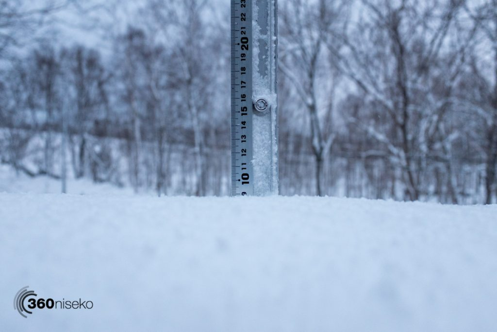 Snowfall in Niseko, 28 January 2017