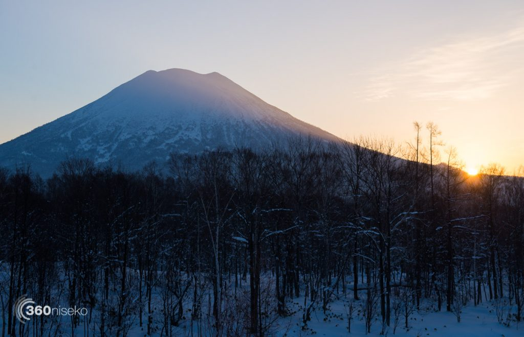 Sunrise over Niseko, 5 February 2017