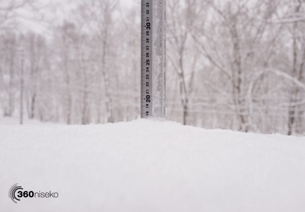Snowfall in Niseko, 19 February 2017