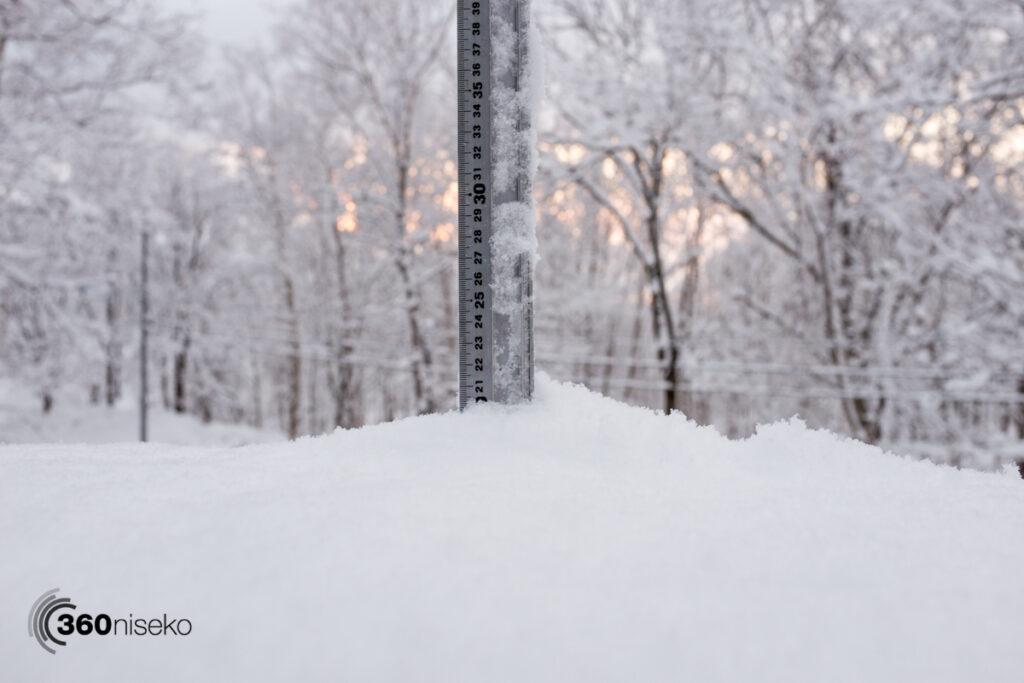 Snowfall in Niseko, 25 February 2017