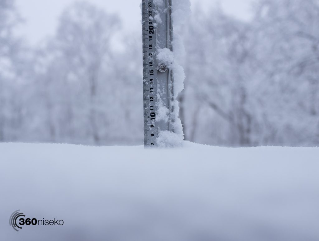 Snowfall in Niseko, 22 March 2017