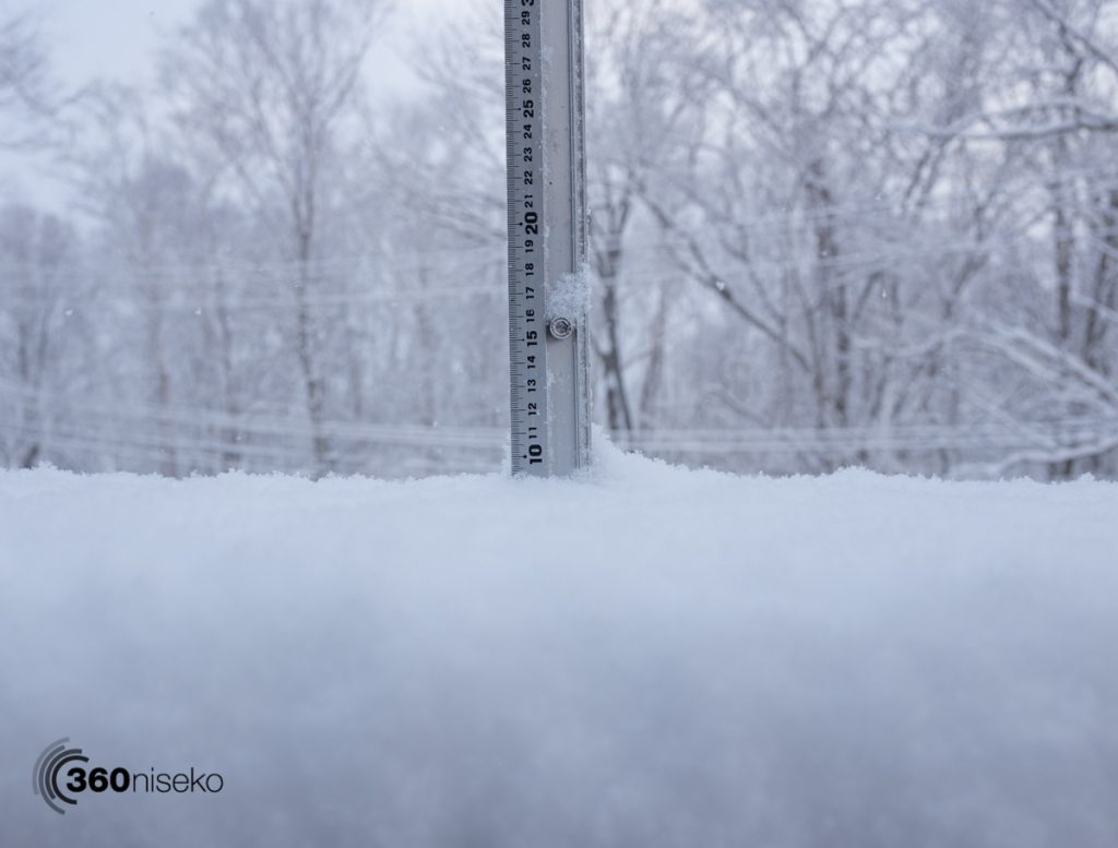Snowfall in Niseko, 7 March 2017