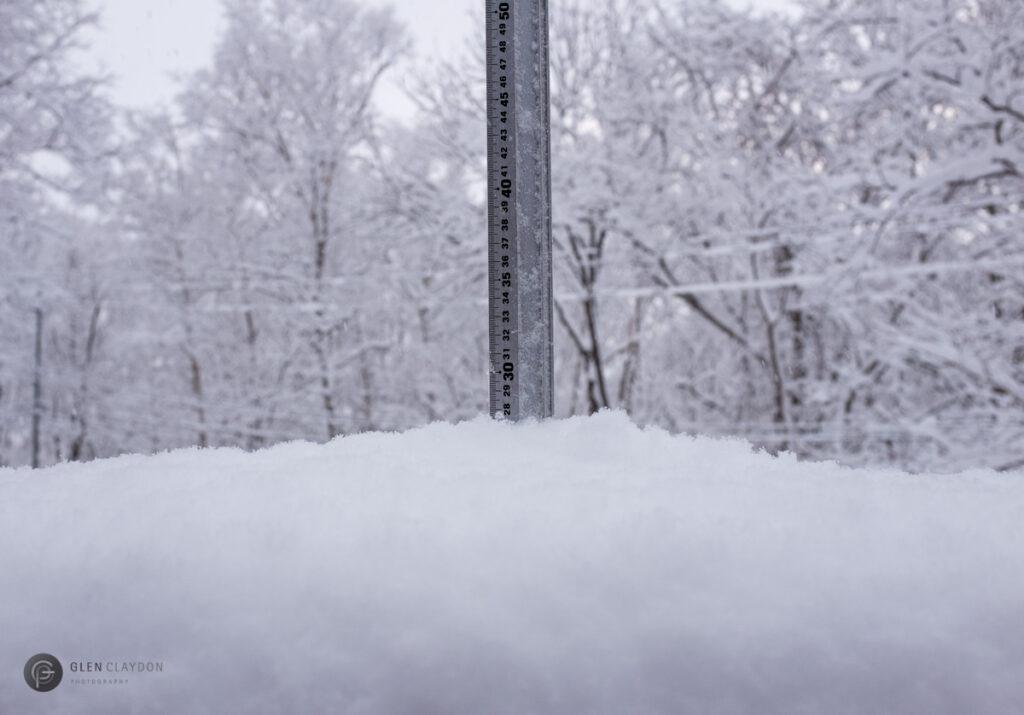 Snowfall in Niseko, 8 March 2017