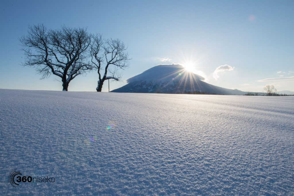 Sunrise in Niseko, 11 March 2017