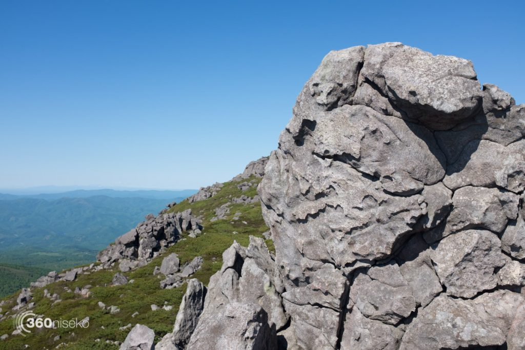 Melted rock at the summit of Mt.Iwaonupuri, 5 June 2017