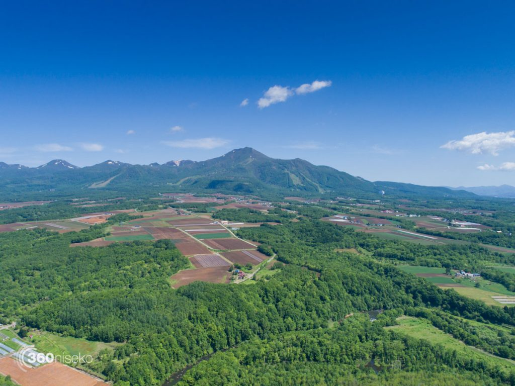 Moiwa, Niseko Annupuri & Niseko Village in the distance, 9 June 2017
