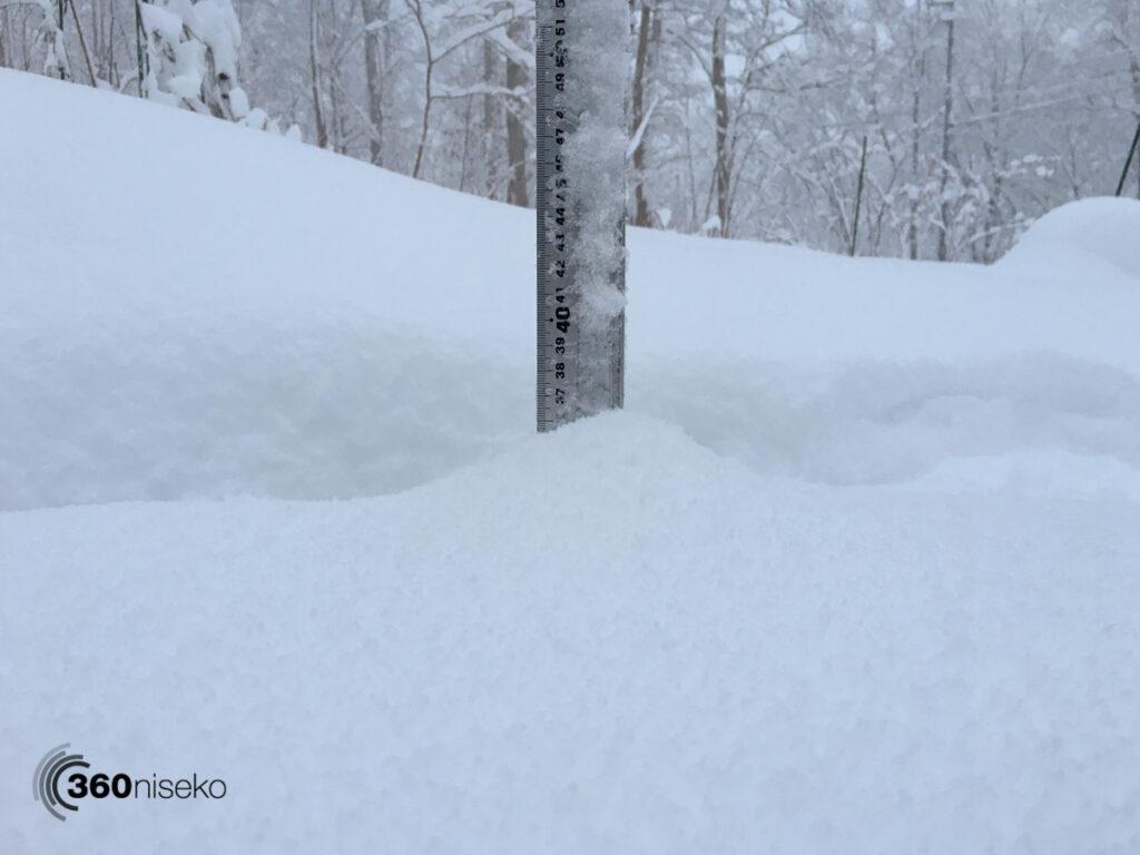 Snowfall in Niseko, 20 November 2017