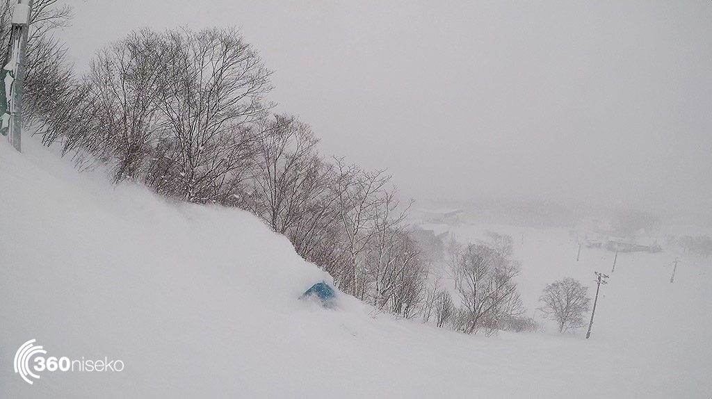 Former World Surfing Champion Barton Lynch giving the Niseko Pow what for yesterday at Annupuri.