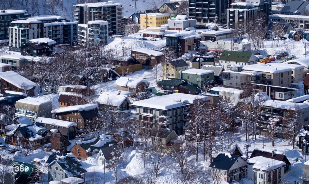 Beautiful but dangerous snow loaded roof tops, 22 December 2017